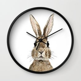 cute innocent rabbit Wall Clock