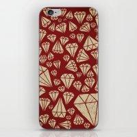 diamond iPhone & iPod Skins featuring diamond by Landon Sheely