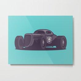 GAZ GL1 Custom Vintage Hot Rod Classic Street Racer Car - Aqua Metal Print