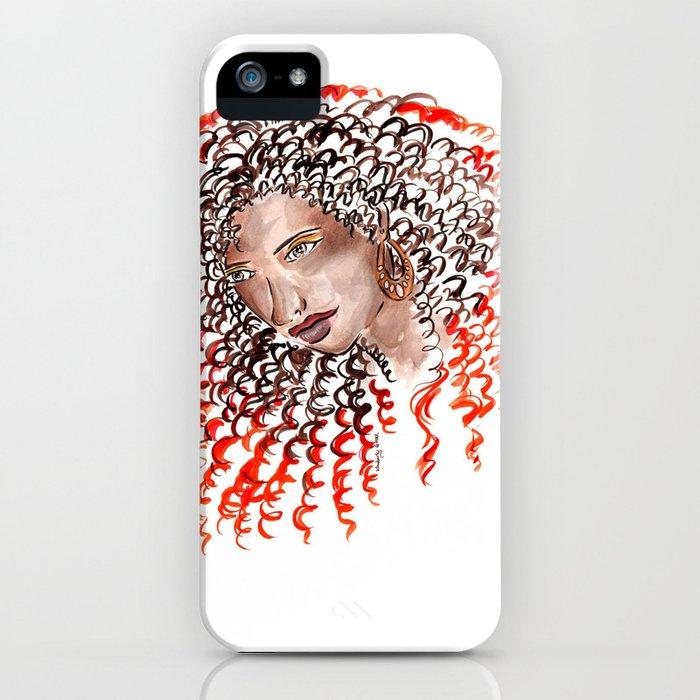 Fiery Curls iPhone Case