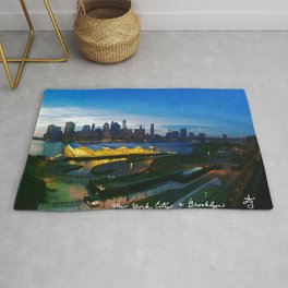 New York City as viewed from the Beautiful Brooklyn Heights Rug