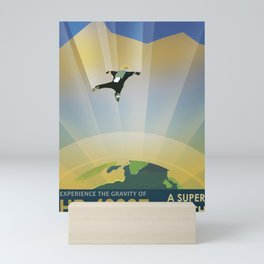 Retro Space Poster -Experience gravity Mini Art Print