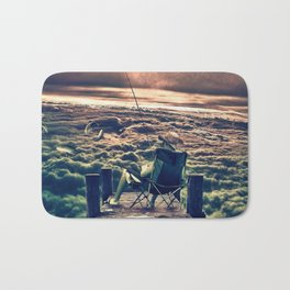 Fishing Above the Clouds Bath Mat