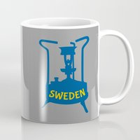 sweden Mugs featuring Sweden | Brass Pressure Stove by mailboxdisco
