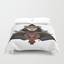 EVIL FEMINIST CULT OF FEMINISM AND EVIL Duvet Cover