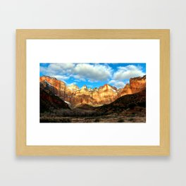 In the Courtyard of the Temple Framed Art Print