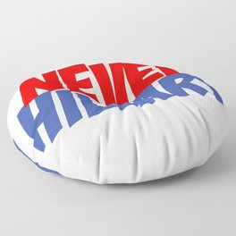 Never Hillary (White) Floor Pillow
