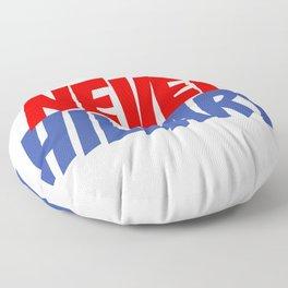 Never Hillary (White) Floor Pillow