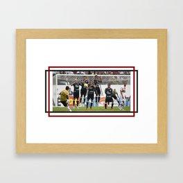 Gol 100 do Rogério Ceni Framed Art Print