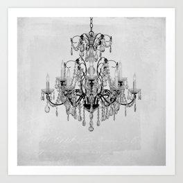 belle époque chandelier Art Print