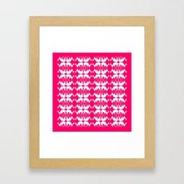 Oh, deer! in hot pink Framed Art Print