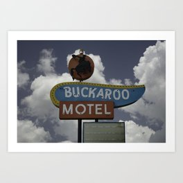Buckaroo Motel Route 66 Art Print