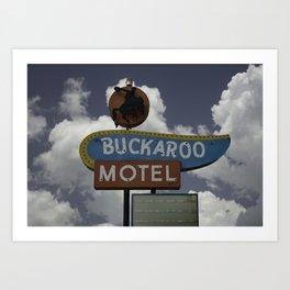 Buckaroo Motel Route 66 Art Print