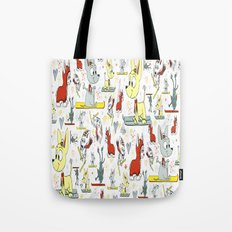 Chi's on skis Tote Bag