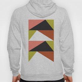 Geometric Pattern #23 (pink lime black triangle) Hoody