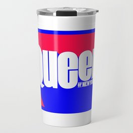 Queen of New York (Blue & Red) Travel Mug