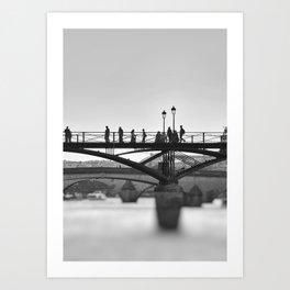 Paris bridges Art Print