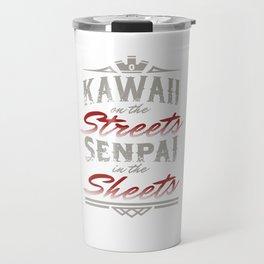 Kawaii On The Streets Senpai On The Sheet Japanese Puns Cosplay Nihon Gift Travel Mug
