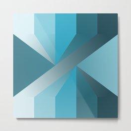 Blue Superposition Metal Print