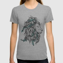 Poetic Lion Turquoise T-shirt