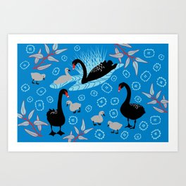 Black Swan garden Art Print