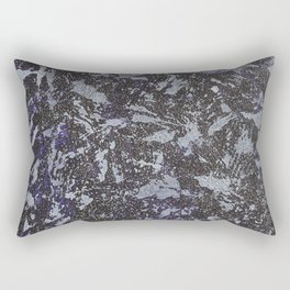 Black and White Ink on Purple Background Rectangular Pillow