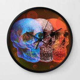 Pop art skulls Wall Clock