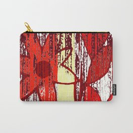 Red Floral Decay Carry-All Pouch