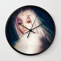 dark souls Wall Clocks featuring Priscilla [Dark Souls] by JeyJey Artworks