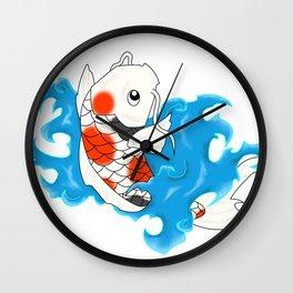 Koi Design Wall Clock