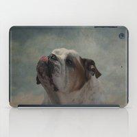 bulldog iPad Cases featuring Bulldog by Mary Kilbreath