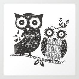 Boho Owl Art Print
