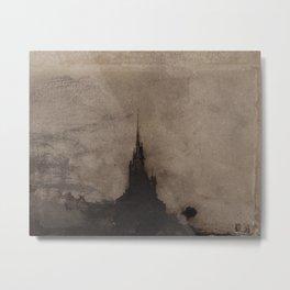 Victor Hugo: Bell Tower Seen Against Light Metal Print