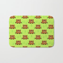 Adorable Groundhog Pattern Bath Mat