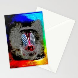 Primate Models: Mandrill Baboons 01-01 Stationery Cards