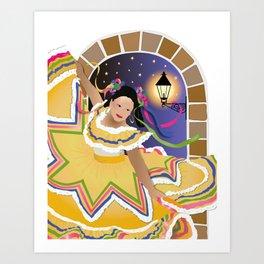 Fiesta Mexican Dancer Art Print