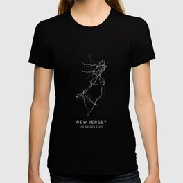 New Jersey State Road Map T-shirt