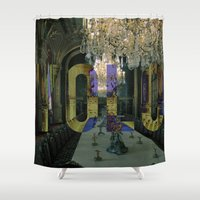 yolo Shower Curtains featuring YOLO by MICKEY FICKEY GALLERY