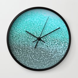 TEAL GLITTER Wall Clock