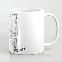 New York White Map Coffee Mug
