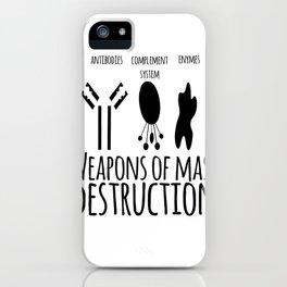 Weapons of mass destruction iPhone Case