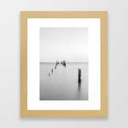Old Tenby Point Jetty Framed Art Print