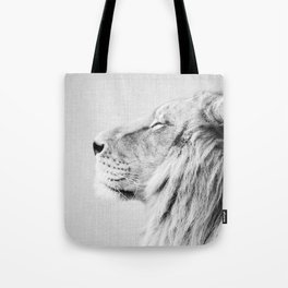 Lion Portrait - Black & White Tote Bag