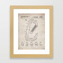 Rock Climbing Patent - Climber Art - Antique Framed Art Print