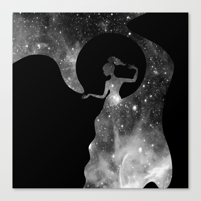 Galaxy From Within BNW Canvas Print