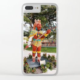 Mayan Statue 3 Clear iPhone Case