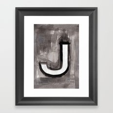 - J - Framed Art Print