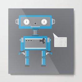 Gerald the Espressobot Metal Print