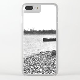 Lakescape Monochrome Clear iPhone Case