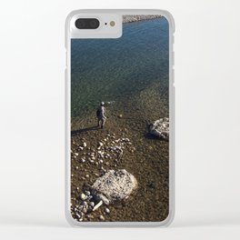 Fishing in Jackson, WY Clear iPhone Case
